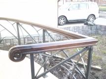 Лестница комбинированная, с перилами