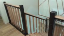 Лестница комбинированная (сосна - бук) двухцветная