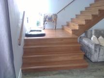 Лестница с буковыми ступенями (6 фото) - №22