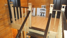 Лестницы из массива с перилами (28 фото) - №24
