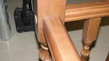 Лестница из массива дерева с перилами и отделкой (34 фото) - №32