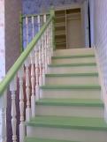 Лестница на косоуре из сосны (6 фото) - №42