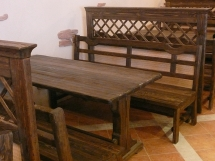 Стол и скамейки для бара, ресторана