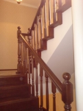 Глухая лестница, ступени из бука (1 фото) - №6
