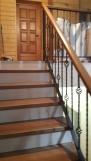 Лестница комбинированная с отделкой (9 фото) - №45