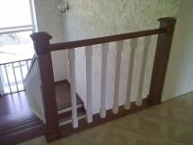 Лестница из массива с широкими ступенями (12 фото) - №31