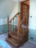 Переходная лестница из дуба (1 фото) - №12