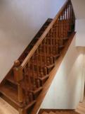 Отделка бетонных маршей деревянными ДУБОВЫМИ ступенями и подступёнками