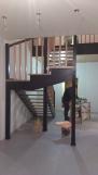 Лестница комбинированная, сосна-бук (14 фото) - №35