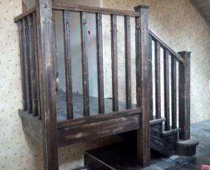 Лестница с перилами в стиле Прованс, модель 22