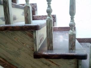 Лестница в стиле Прованс, модель 16