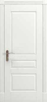 Дверной блок из массива дерева, эмаль, декор наличников