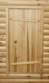 Дверное полотно банное из массива, модель 25
