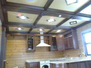Кесонные потолки из дерева 4