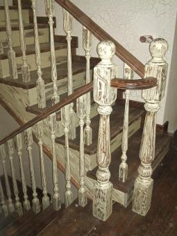 Лестница в стиле Прованс, модель 6