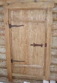 Дверь из массива сосны для бани, модель 23