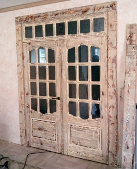 Дверь в стиле Прованс с остеклением, модель 3