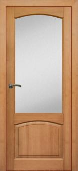 Дверь из массива сосны, остекленная