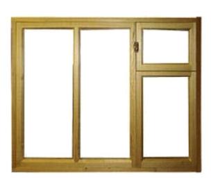 Окно с форточкой деревянное