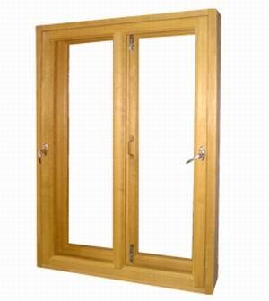 Деревянное окно для квартиры