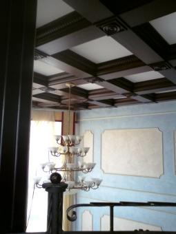 Кесонные потолки из дерева 20