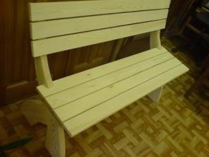 Мебель для сада и дачи из массива на заказ, модель 7