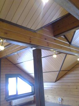 Кесонные потолки из дерева 8