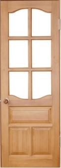 Дверное полотно из массива дерева под стекло, модель 3