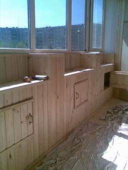 Отделка, изготовление шкафов для балконов и лоджий