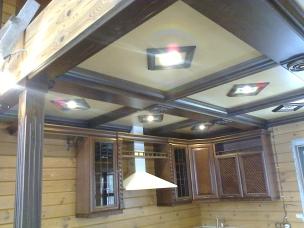 Кесонные потолки из дерева 1