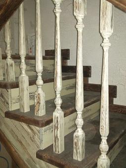 Лестница в стиле Прованс, модель 5