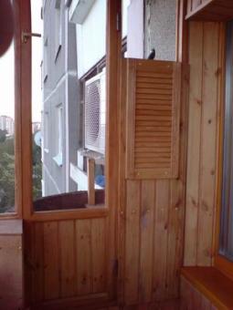 Отделка вагонкой лоджий, балконов