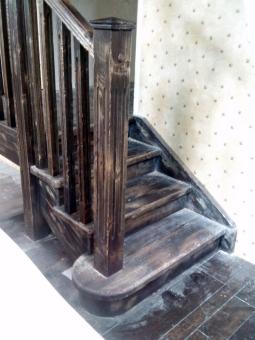 Лестница в стиле Прованс, модель 25