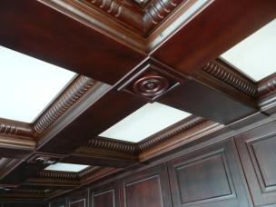 Кесонные потолки из дерева 18