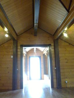 Кесонные потолки из дерева 11