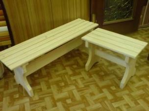 Лавки деревянные для сада и дачи, модель 15