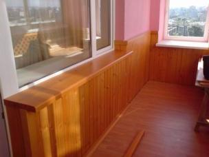 Отделка пола и стен лоджии, балкона