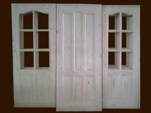 Двери из массива светлые, модель 5