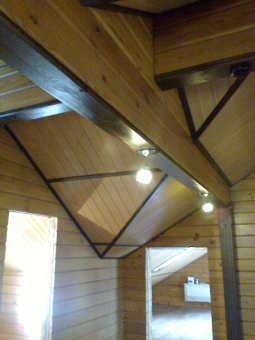 Кесонные потолки из дерева 5