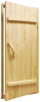 Дверь из массива для бани, модель 21