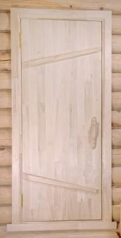 Дверь из массива для бани, модель 24