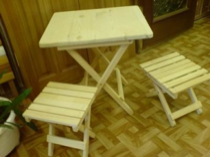 Складная мебель из массива дерева на заказ, модель 13