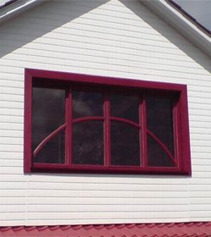 Окно деревянное с переплетом