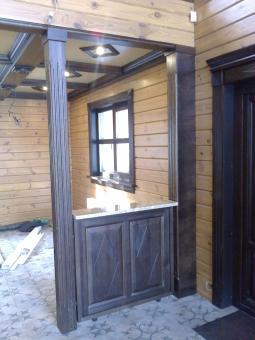 Кесонные потолки из дерева 14