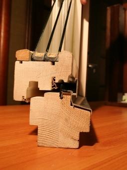 Оконный блок деревянный стеклопакет (евроокно)