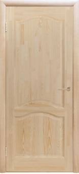 Дверь из массива эконом класса, беленый дуб, модель 13