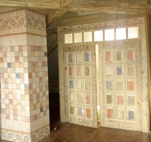 Дверь в стиле Прованс с отделкой, модель 2