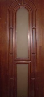 Дверь из массива щитовая с остеклением, модель 5