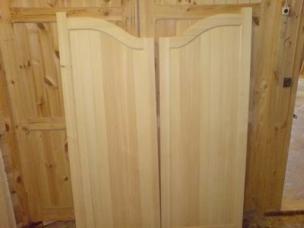 Двери салунные из массива дерева, модель 9