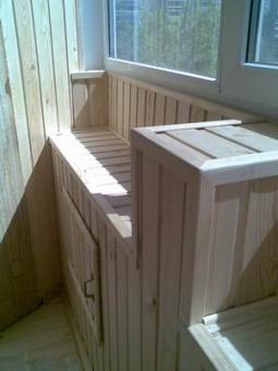 Внутренняя отделка, изготовление шкафов для балконов